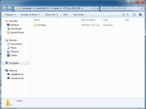 Entpackte Dateien öffnen