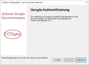 Google Konto Authentifizierung